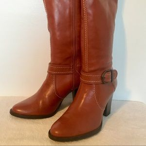 Women's ALEX MARIE Leather Tall Boots Size 6.5M